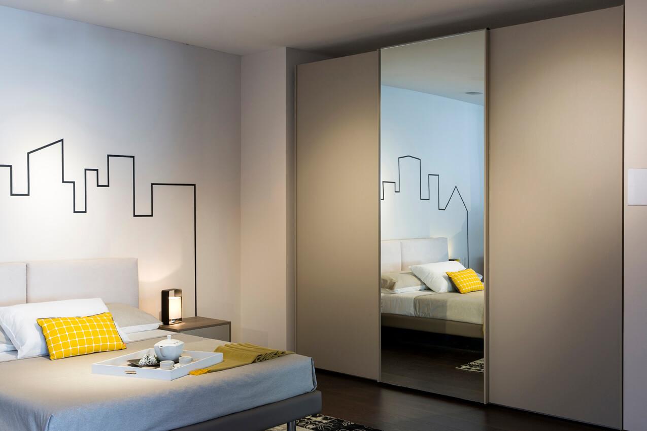 Lusso accessibile roll armadio scorrevole specchio - Armadio scorrevole specchio ...